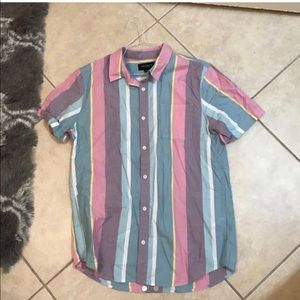 Men's Pacsun color block button up